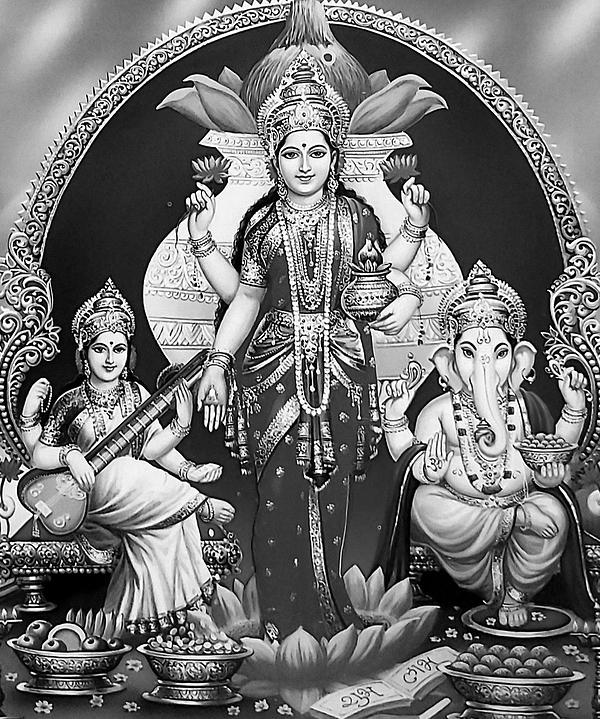Lakshmi Ganesha Saraswathi