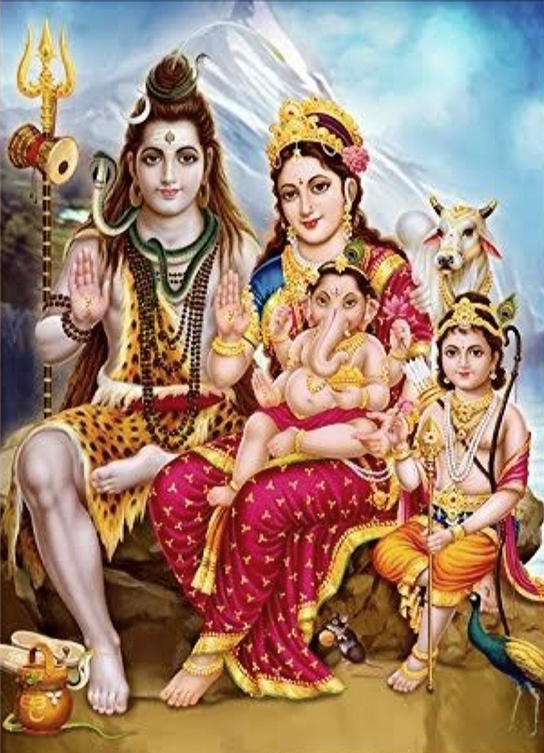 Lord Shiva and family