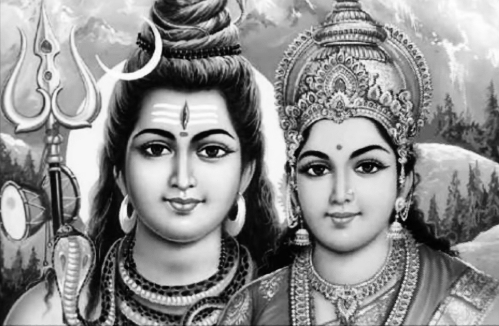 Lord Shiva and Parvathi