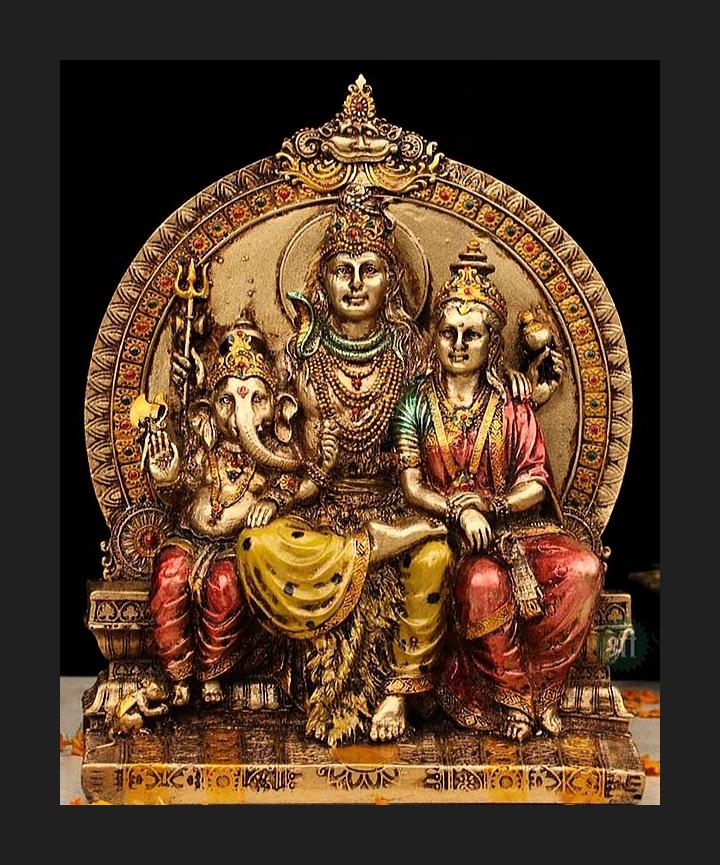 Shiva, Parvathi & Ganesha
