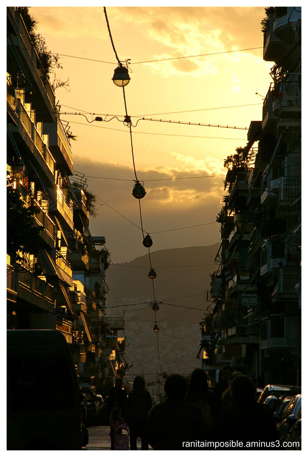 Street at Sunset