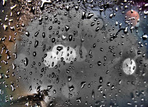 glob of rain