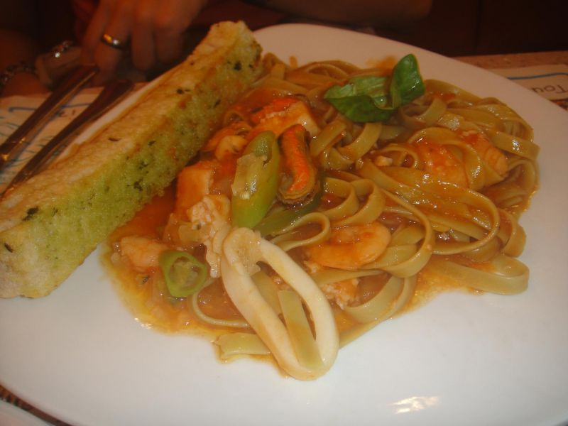 French Baker's seafood pasta