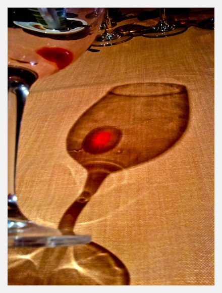 shadow of a glass of wine from Ribera de Duero