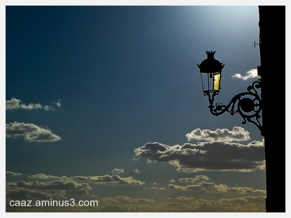 Lamppost (with a missing bulb) silhouette