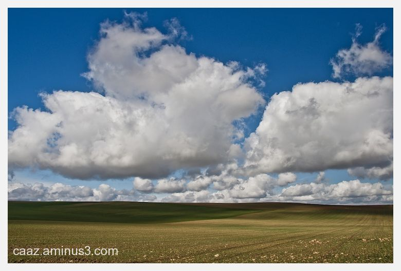 The infinite fields of castilla under a cloudy sky