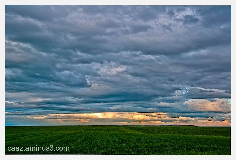 Castilian landscape Photo at sunset