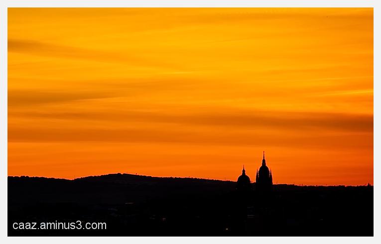 Salamanca´s cathedral at sunset