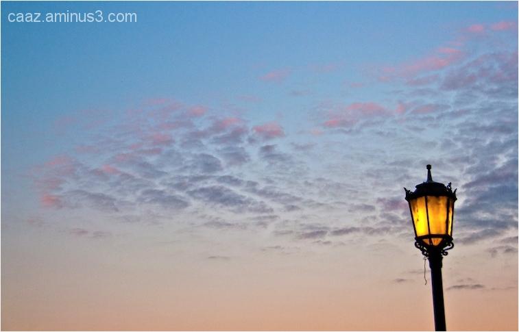 sunset & lamppost