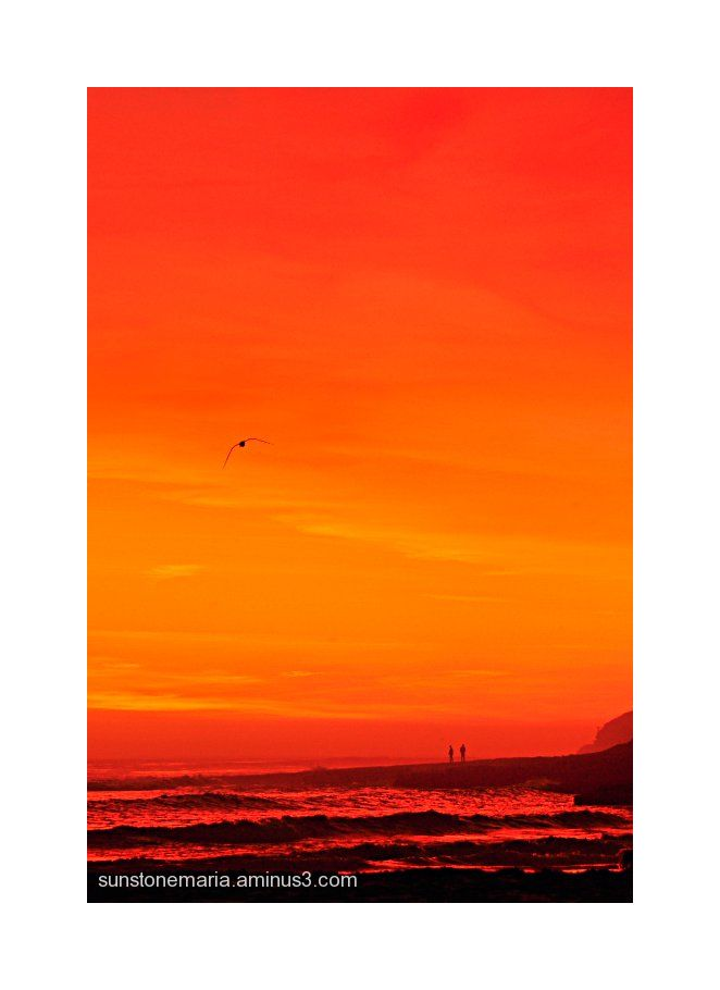 { crimson sunset over santa cruz II }