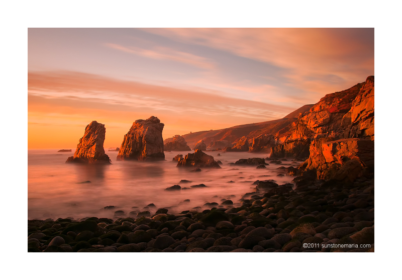 { sunset at garrapata state park}