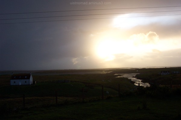 Sunset and Rain in Grimsay