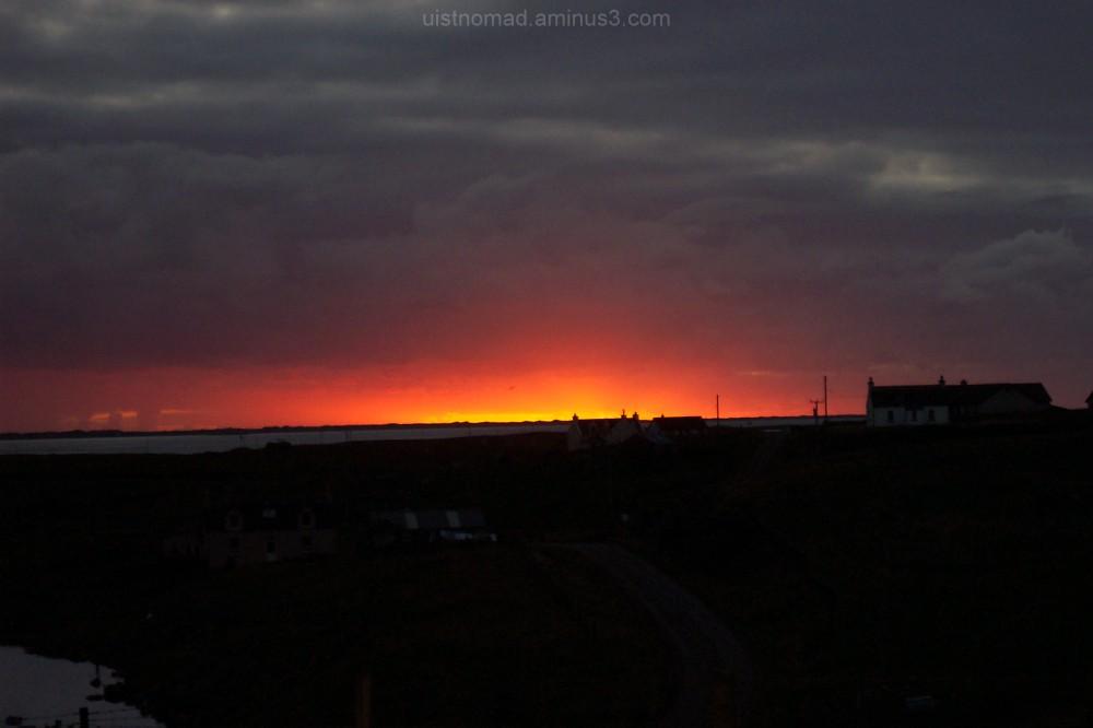 Sunset over Grimsay