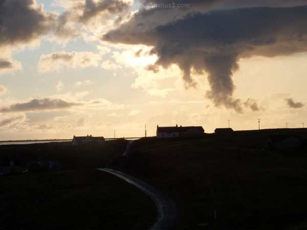 Sunset over Uists