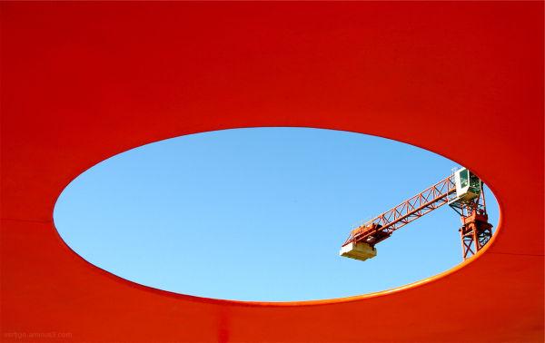 Contemporary picture of munchen, orange concept
