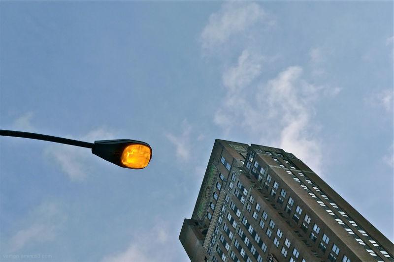 building, NYC, light