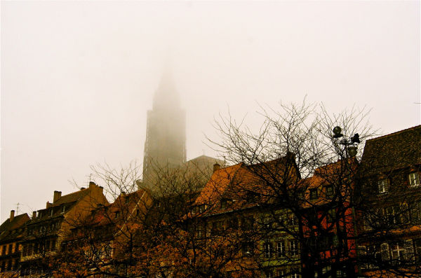Strasbourg under fog