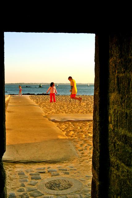 Children on Port louis beach