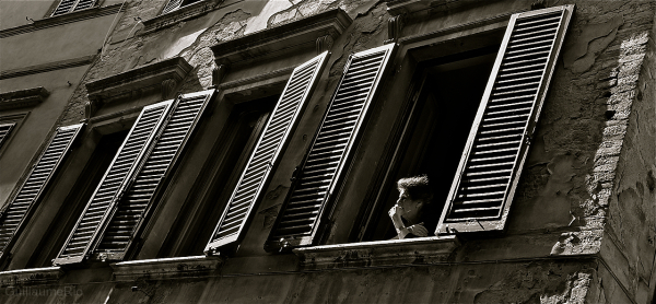 old woman at hte window