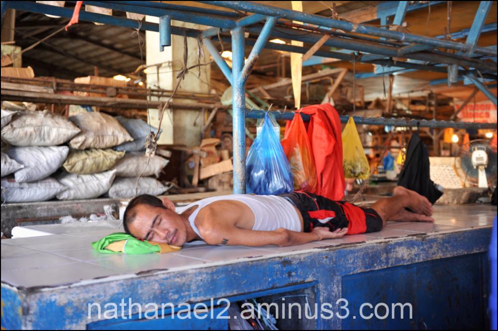 Sleeping shop...