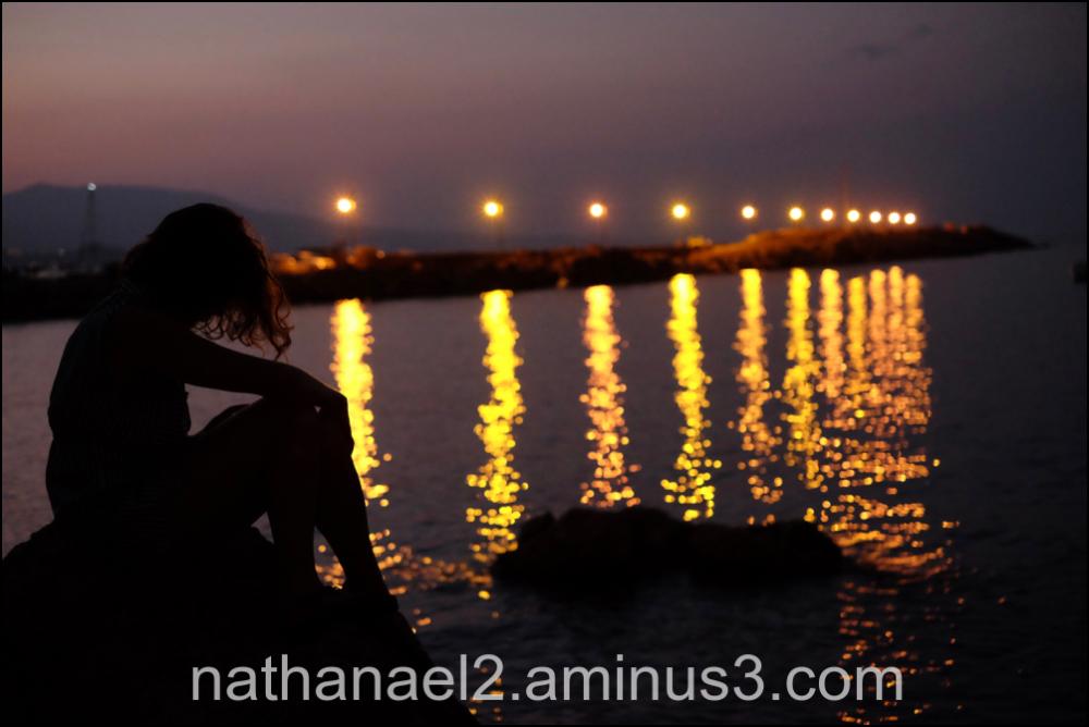 At night...