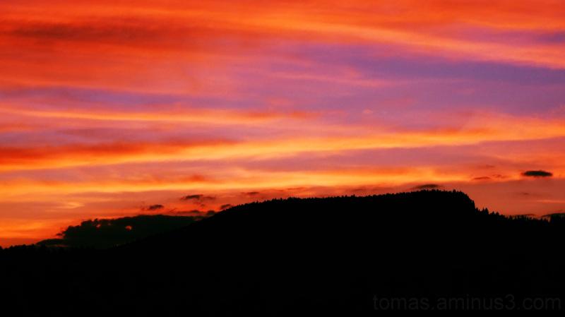 Západ slunce nad Ostašem