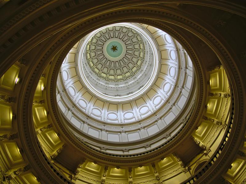 Dome of Texas State Capitol in Austin