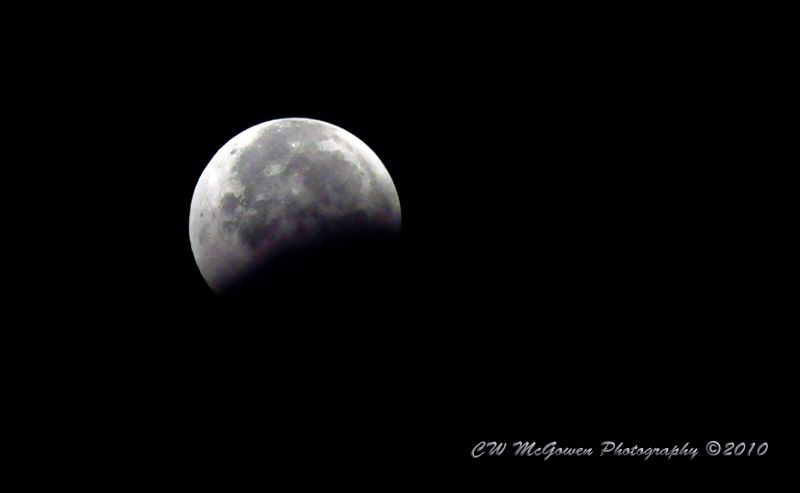 Waning Lunar Eclipse 33% Coverage