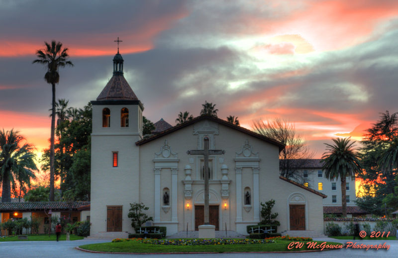 Mission Santa Clara at Sunset