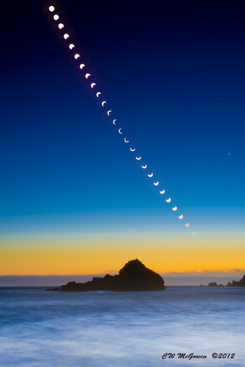 The May 20, 2012 Annular Eclipse as captured from Pfeiffer Beach in Big Sur, California.