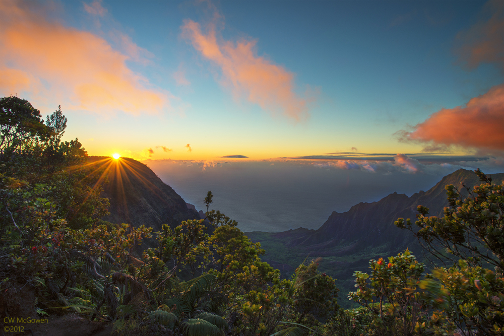 Kalalau Valley Sunset