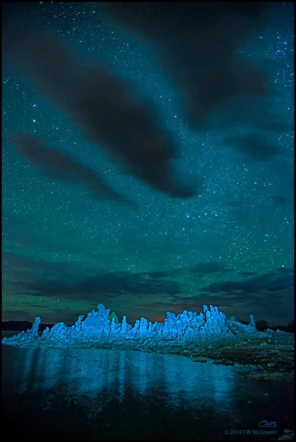 Midnight on Mono Lake