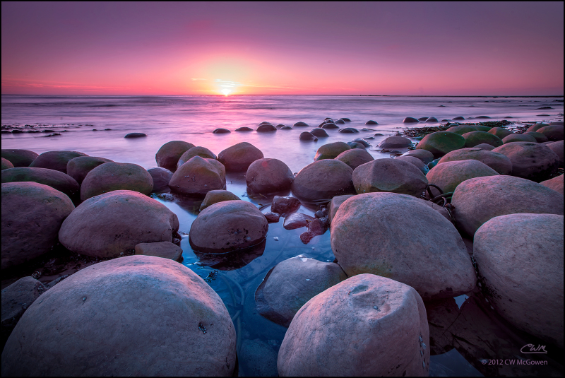 Bowling Ball Beach Sunset
