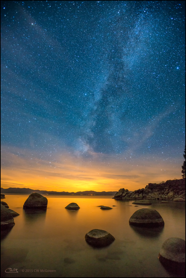 Heaven over Lake Tahoe