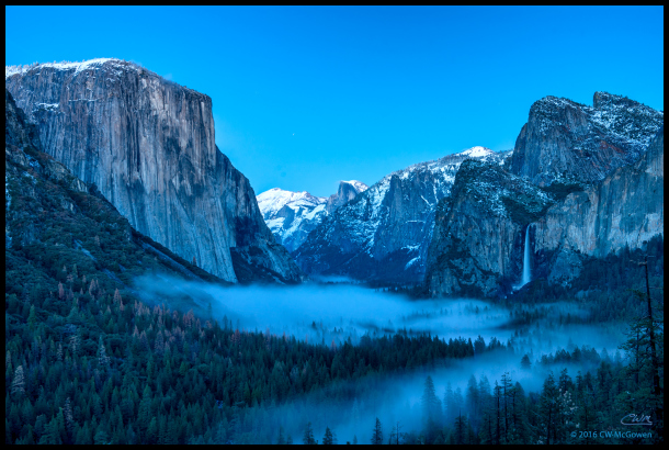 Tunnel View Blue Hour