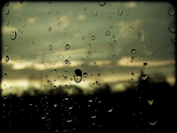 raindrops on pane