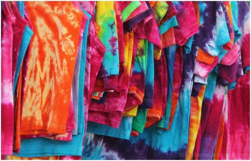 tie dyed