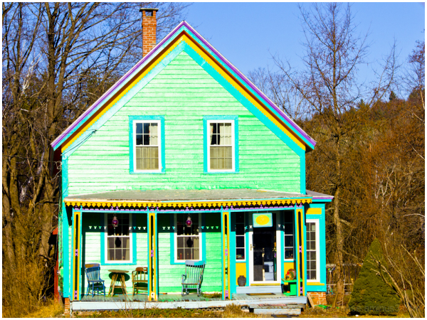 house(not horse) of different color!