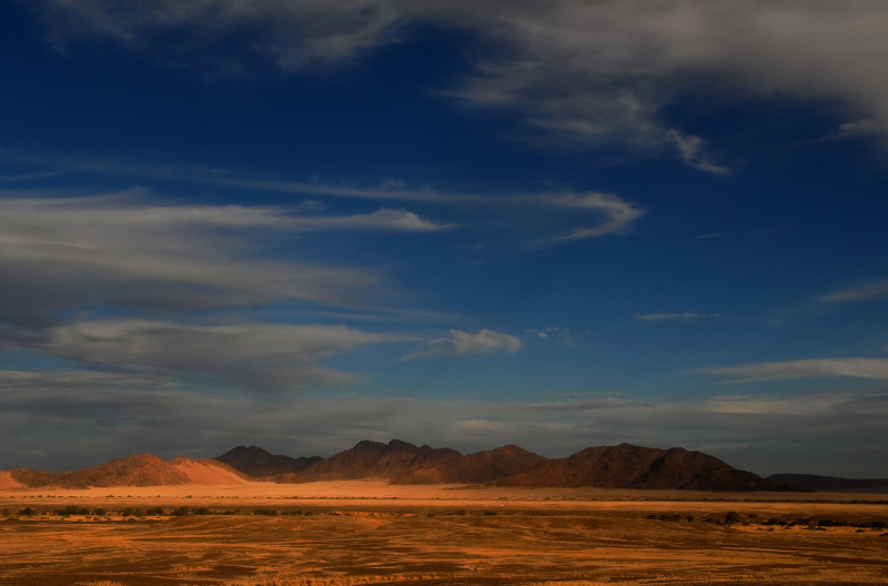 Blue sky with clouds in Namib Dessert