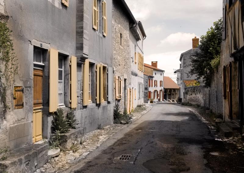 Street in Charroux Village France
