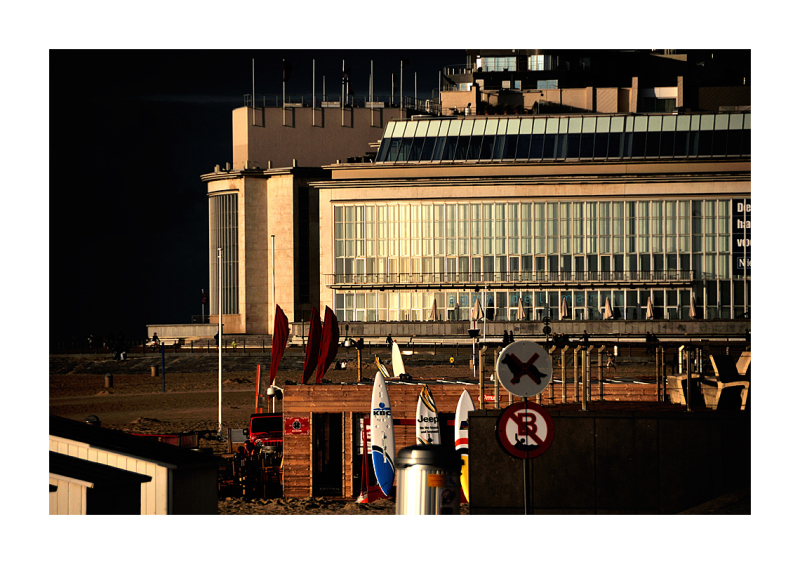Light on the casino at Ostende