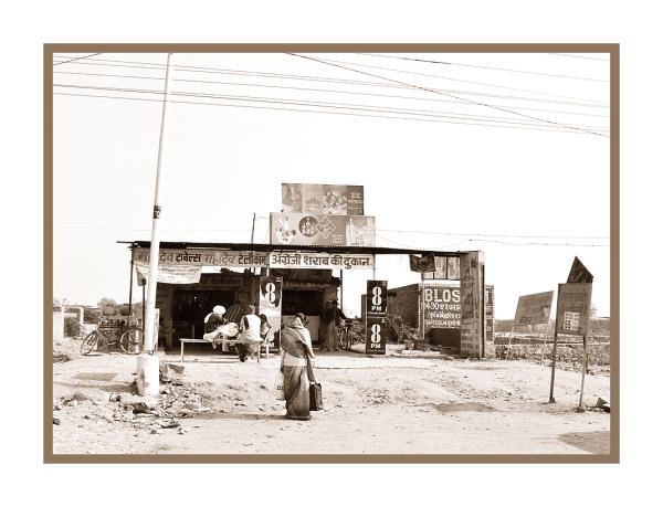 Au bord de la route, en Inde.
