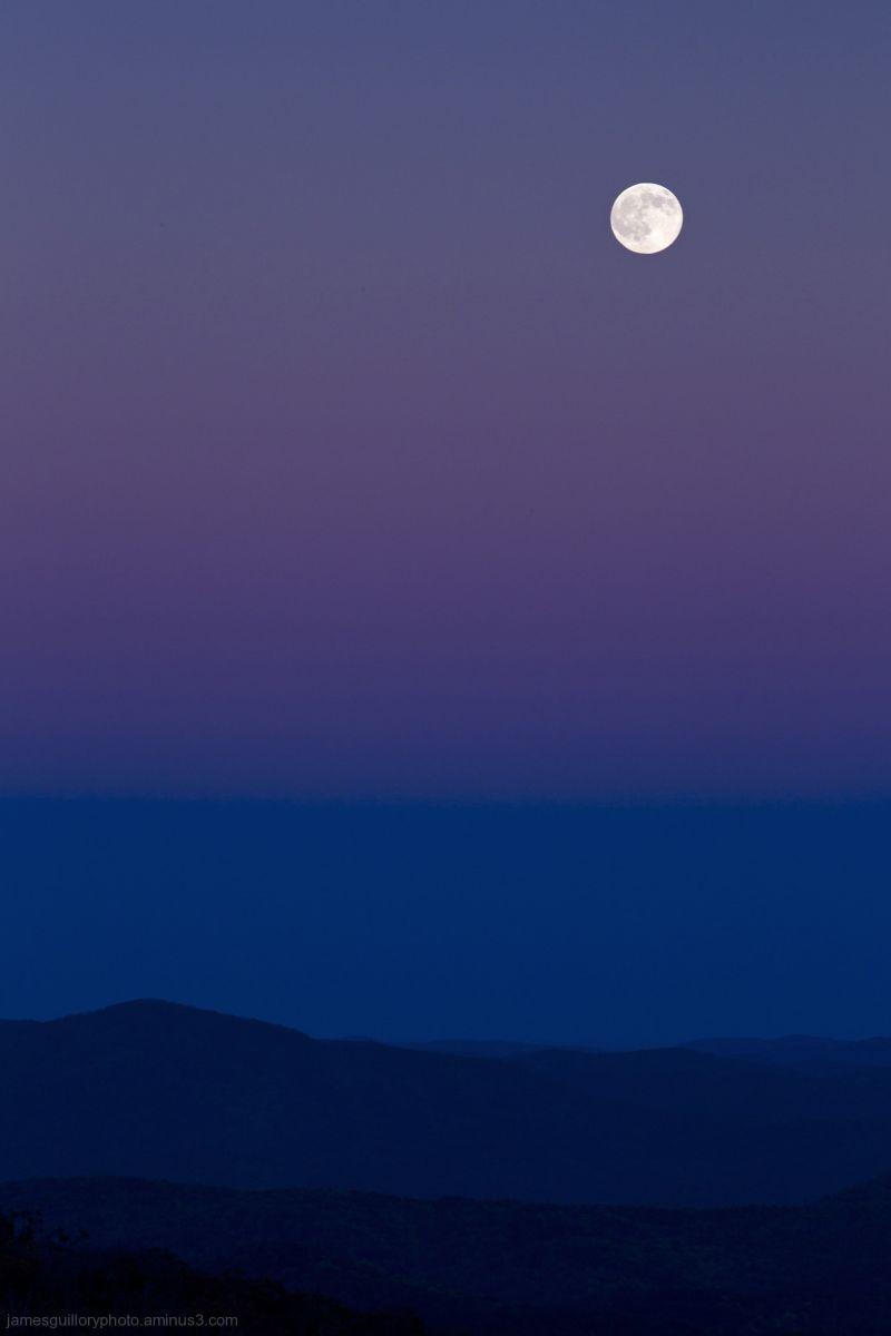 full Moon over the Blue ridge Mountains