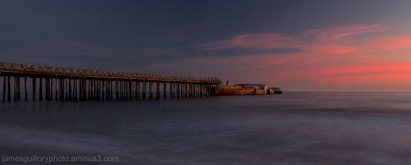 seacliff beach sunset, aptos, california