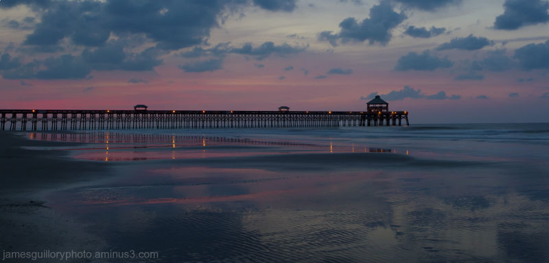 sunrise at folly beach  charleston south carolina