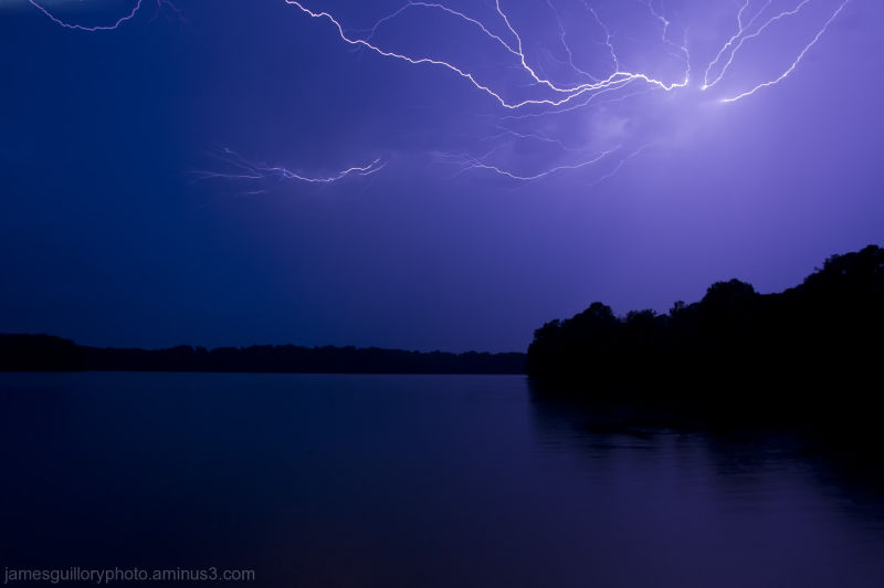 lake benson lightning, garner, north carolina