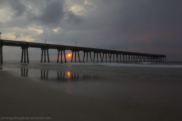 wrightsville beach pier sunrise north carolina