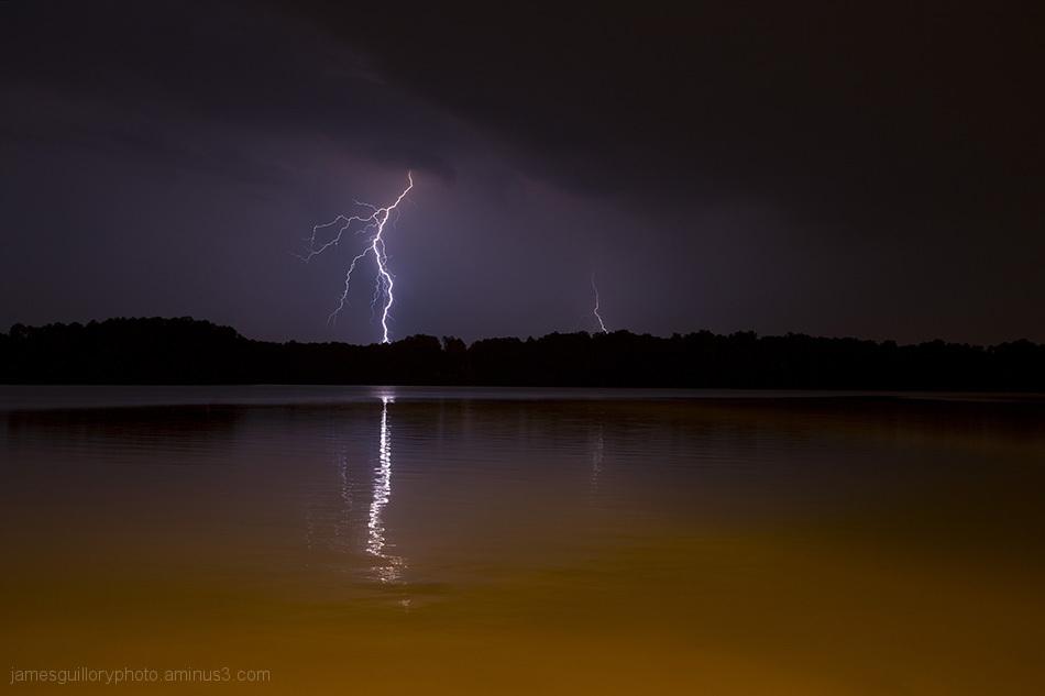 lightning skies in, Garner, North Carolina