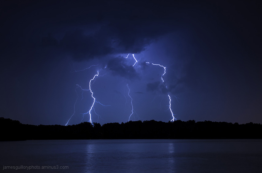 lightning skies in, Garner, North Carolina