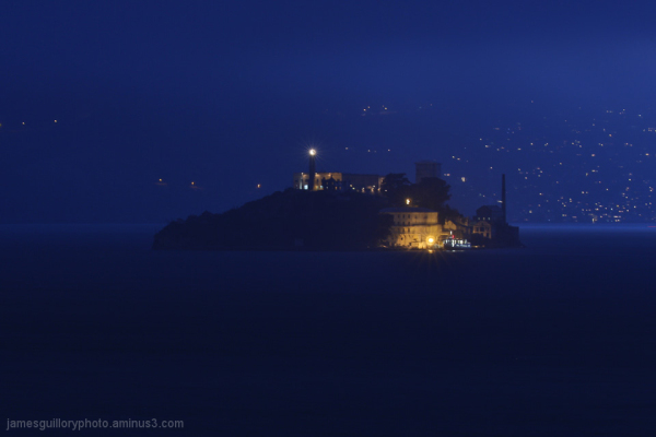 alcatraz island night photography, san francisco